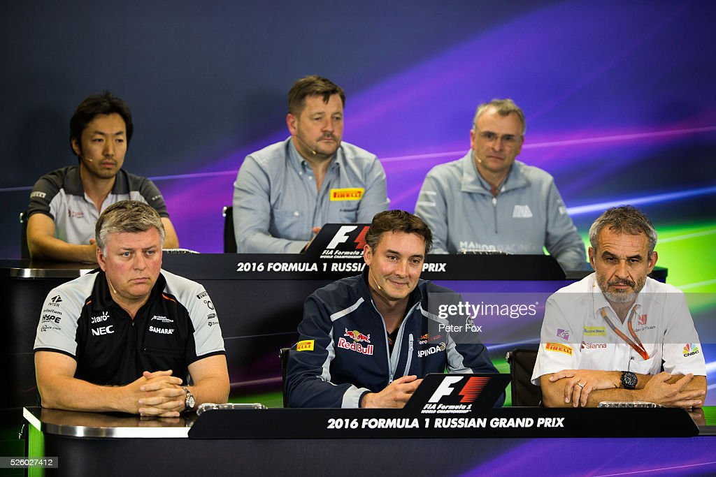 James Key of Scuderia Toro Rosso and Great Britain in the Friday Press Conference during practice for the Formula One Grand Prix of Russia at Sochi Autodrom on April 29, 2016 in Sochi, Russia.