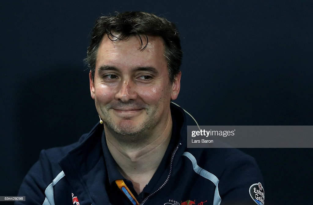 James Key, Technical Director of Scuderia Toro Rosso in the Team Representatives Press Conference during practice for the Monaco Formula One Grand Prix at Circuit de Monaco on May 26, 2016 in Monte-Carlo, Monaco.