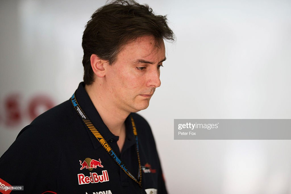 James Key the Scuderia Toro Rosso Technical Director is seen during practice for the Malaysian Formula One Grand Prix at the Sepang Circuit on March 22, 2013 in Kuala Lumpur, Malaysia.