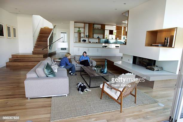 James King and his mother Erin King were relaxing in the living room of their home Architect John Friedman designed The King residence in Santa...