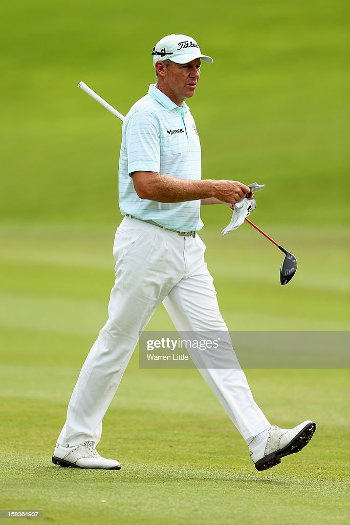 James Kingston of South Africa in action during the second round of the Alfred Dunhill Championship at Leopard Creek Country Golf Club on December 14, 2012 in Malelane, South Africa.