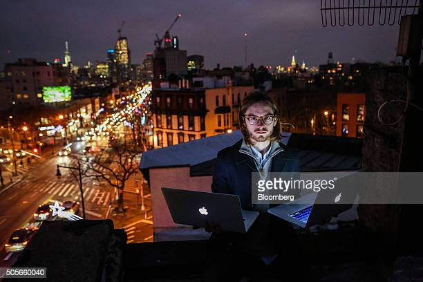 James Knight a 27yearold freelance coder sits for a photograph on a rooftop in the Brooklyn borough of New York US on Thursday Jan 14 2016 Knight...