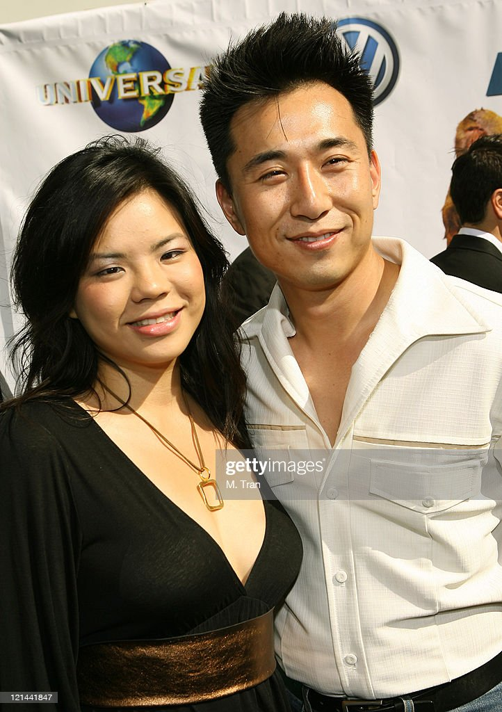 James Kyson Lee and friend Cecila during 'Evan Almighty' World Premiere Presented by Universal Pictures at Universal Citywalk in Universal City...