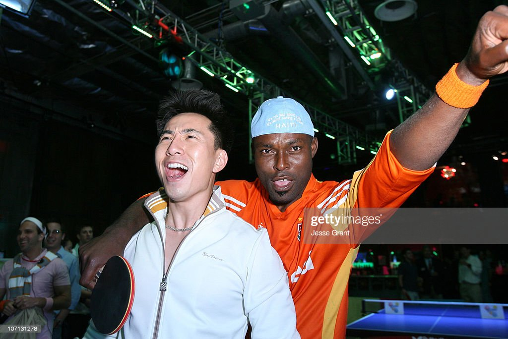 James Kyson Lee and Jimmy Jean Louis during Dippin' Dots Presents Celebrity Grand Slam Paddle Jam to Benefit St Jude Children's Research Hospital...