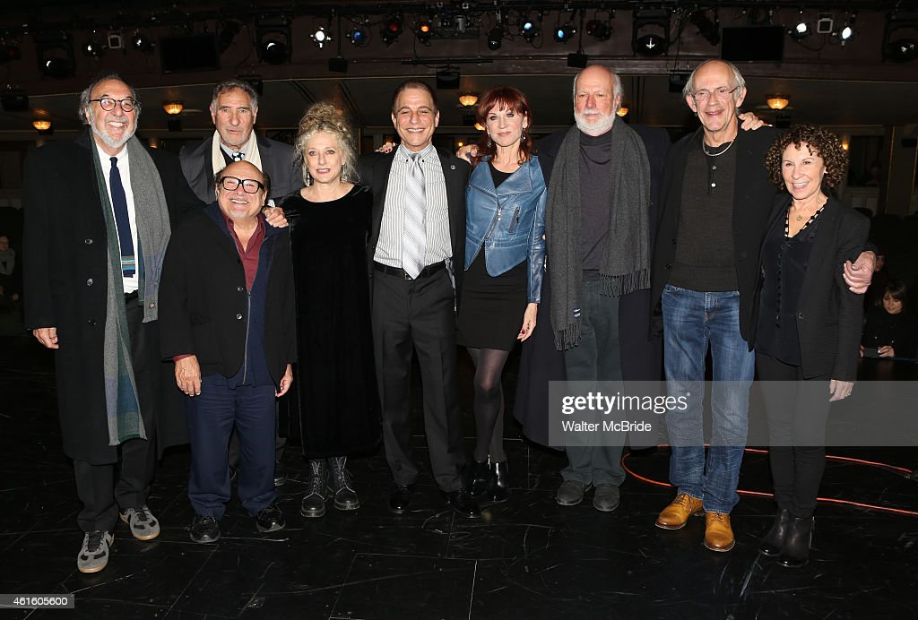 James L Brooks Danny DeVito Judd Hirsch Carol Kane Tony Danza Marilu Henner James Burrows Christopher Lloyd and Rhea Perlman backstage at the 'Taxi'...