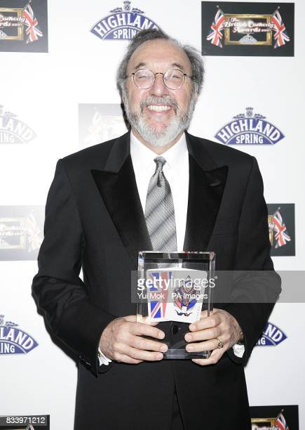 James L Brooks with the Best Comedy Film award recieved for The Simpsons Movie at the 2007 British Comedy Awards at The London Studios Upper Ground...