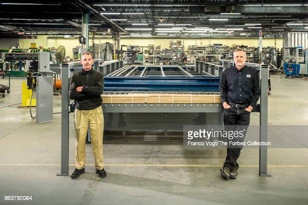 James L Taylor Manufacturing Co chief executive Michael Burdis and chief engineer Bradley Quick are photographed for Forbes Magazine on March 31 2017...