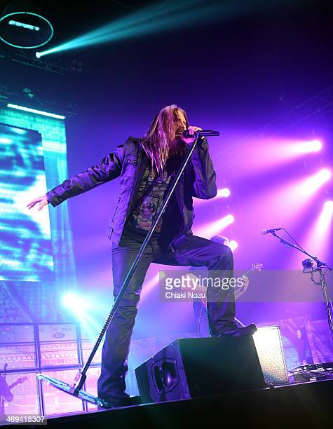 James LaBrie of Dream Theater performs at Wembley Arena on February 14 2014 in London England