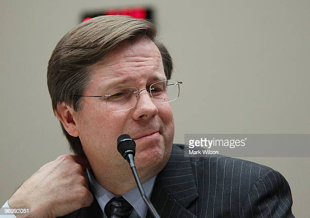 James Lentz president and COO of Toyota Motor Sales USA Inc testifies during a House Energy and Commerce Committee hearing on Capitol Hill on...