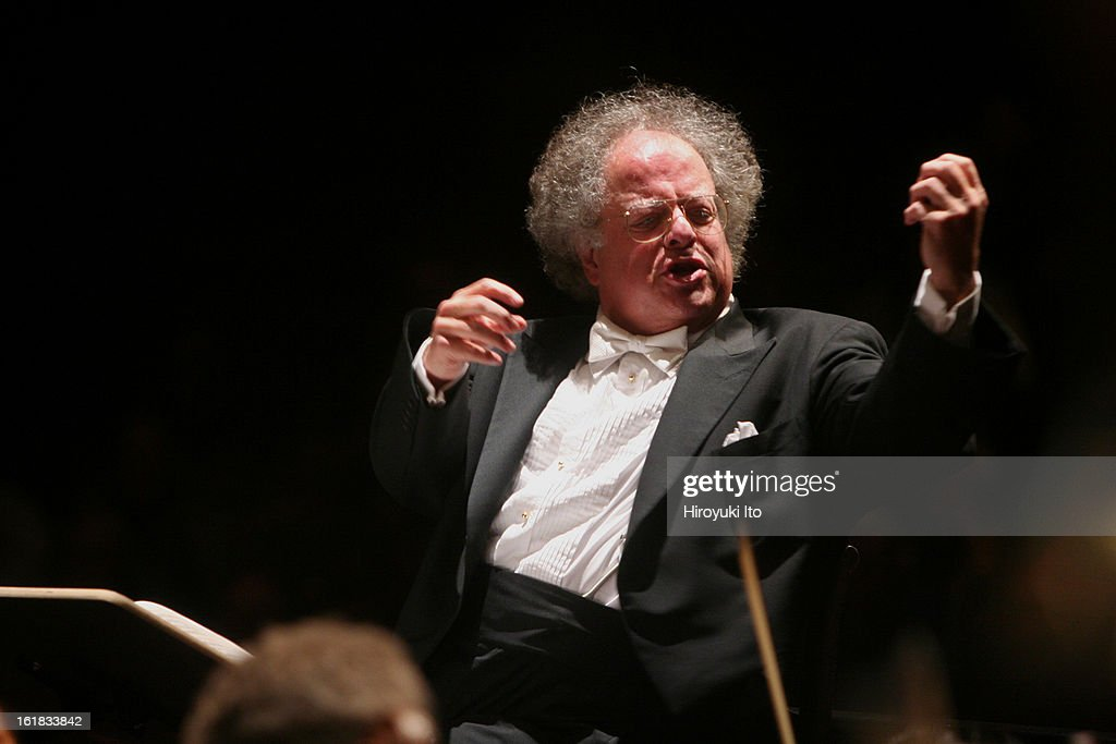 <a gi-track='captionPersonalityLinkClicked' href=/galleries/search?phrase=James+Levine+-+Conductor&family=editorial&specificpeople=220716 ng-click='$event.stopPropagation()'>James Levine</a> conducting the Juilliard Orchestra in a program of Elliott Carter and Charles Ives at the Peter Jay Sharp Theater on Saturday night, February 2, 2008.This was the final concert of Juilliard's annual Focus! festival.This year's festival was titled 'All About Elliott: Celebrating Elliott Carter's 100th Year.'