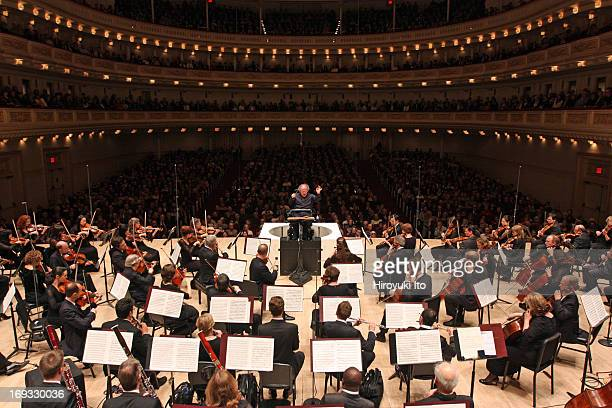 James Levine leading the Met Orchestra in Schubert's 'Symphony No 9 in C Major' at Carnegie Hall on Sunday night May 19 2013