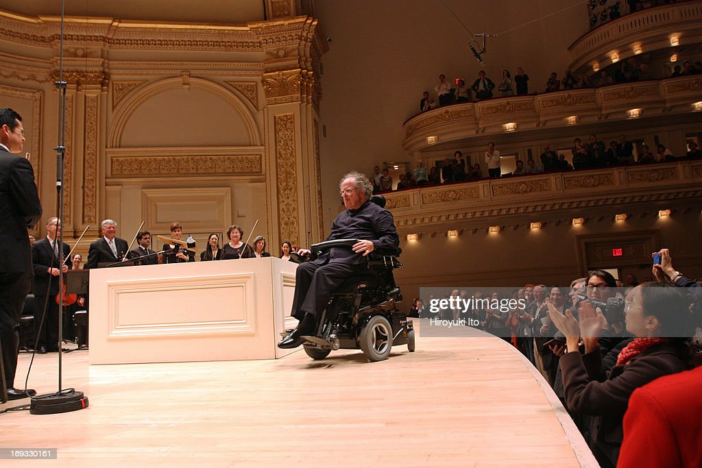 <a gi-track='captionPersonalityLinkClicked' href=/galleries/search?phrase=James+Levine+-+Conductor&family=editorial&specificpeople=220716 ng-click='$event.stopPropagation()'>James Levine</a> leading the Met Orchestra in Schubert's 'Symphony No. 9 in C Major' at Carnegie Hall on Sunday night, May 19, 2013.This image:<a gi-track='captionPersonalityLinkClicked' href=/galleries/search?phrase=James+Levine+-+Conductor&family=editorial&specificpeople=220716 ng-click='$event.stopPropagation()'>James Levine</a> taking a bow during the standing ovation.