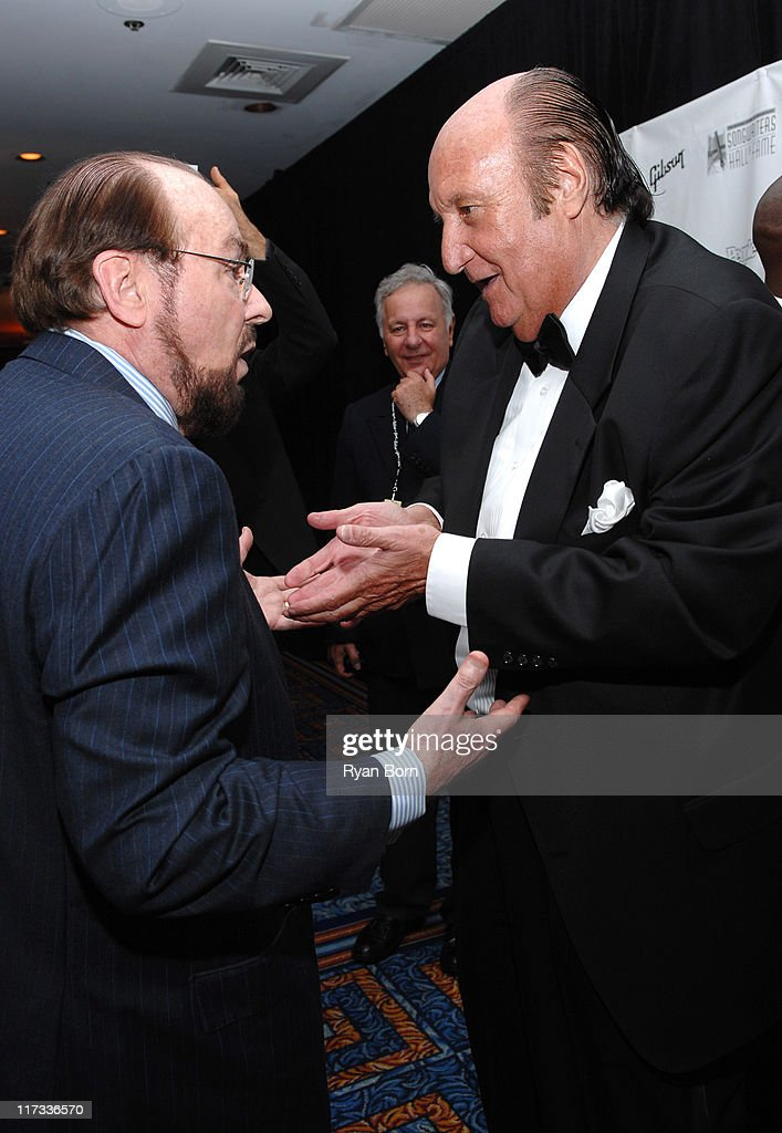 James Lipton and Don Kirshner during 38th Annual Songwriters Hall of Fame Ceremony - Cocktails and Backstage at Marriott Marquis in New York City, New York, United States.