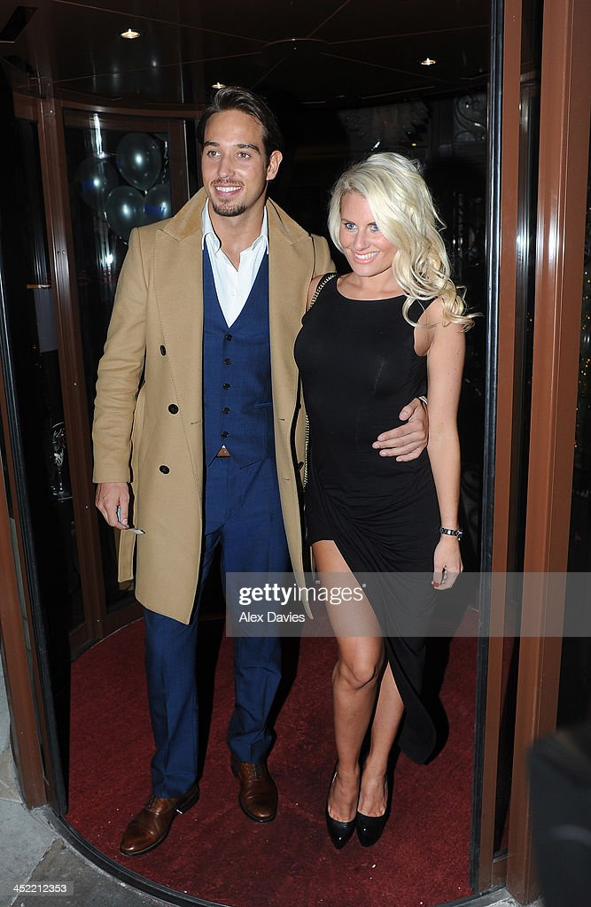 James Lock (L) attend the Now magazine Christmas party on November 26, 2013 in London, England.