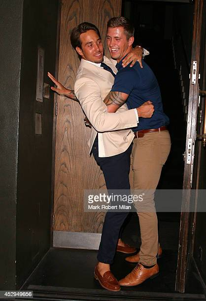James Locke and Dan Osborne at Century club for the The Only Way Is Essex wrap party on July 30 2014 in London England