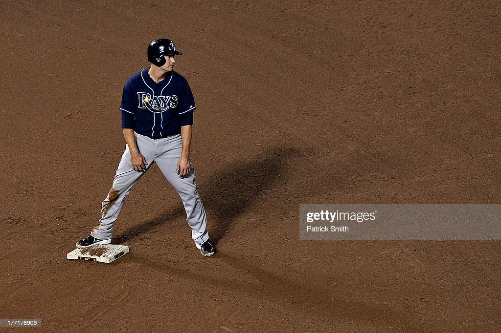<a gi-track='captionPersonalityLinkClicked' href=/galleries/search?phrase=James+Loney&family=editorial&specificpeople=636293 ng-click='$event.stopPropagation()'>James Loney</a> #21 of the Tampa Bay Rays shows his emotion after being called out on the last play of the game against the Baltimore Orioles at Oriole Park at Camden Yards on August 21, 2013 in Baltimore, Maryland. The Baltimore Orioles won, 4-2.