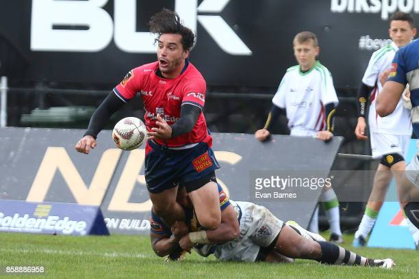 James Lowe of Nelson during the round eight Mitre 10 Cup match between Tasman and Auckland at Trafalgar Park on October 8 2017 in Nelson New Zealand