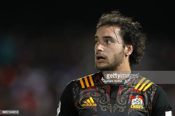 James Lowe of the Chiefs watches on during the round 13 Super Rugby match between the Chiefs and the Crusaders at ANZ Stadium on May 19 2017 in Suva...