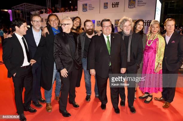 James Loye President of eOne Films Patrick Roy Raoul Trujillo Roger Frappier Naiade Aoun David La Haye Denis Coderre Francois Girard Tanaya Beatty...