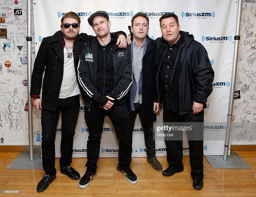 James Lynch, Al Barr, Jeff DaRosa and Ken Casey of Dropkick Murphys visit the SiriusXM Studios on December 13, 2012 in New York City.