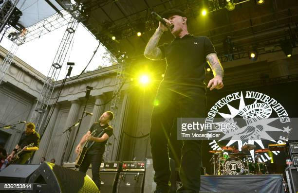 James Lynch and Al Barr of Dropkick Murphys perform during the 'From Boston to Berkeley' tour at University of California Berkeley on August 20 2017...