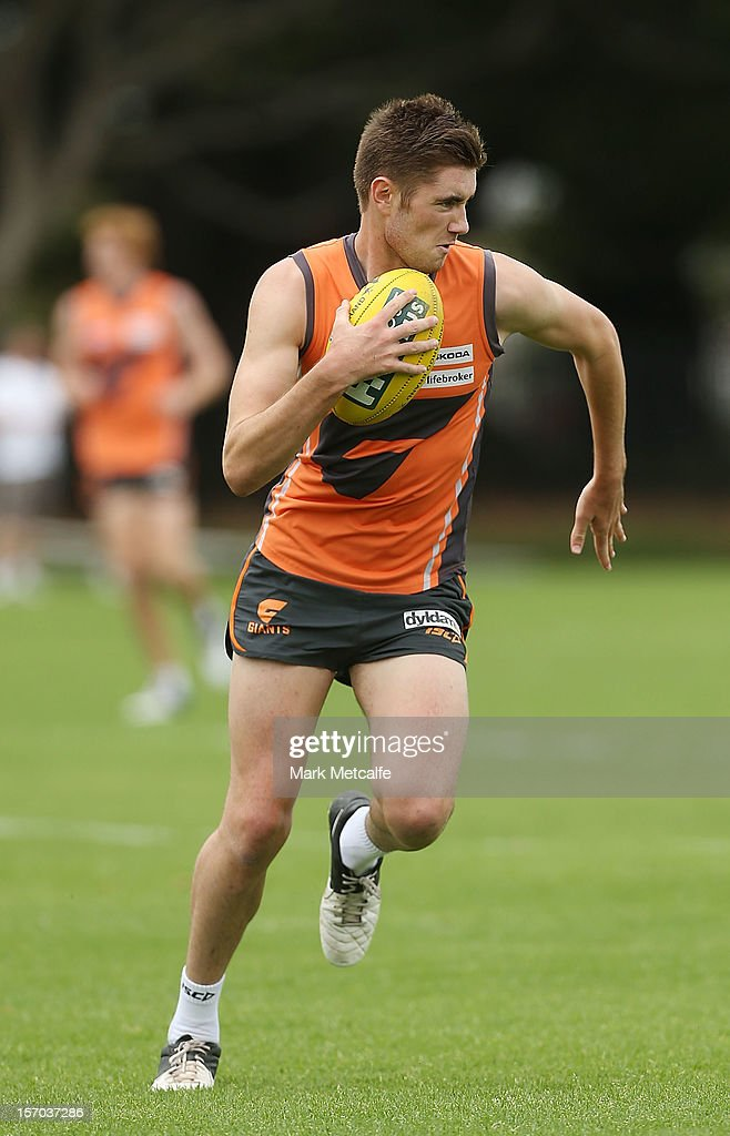 James Macdonald in action during a Greater Western Sydney Giants AFL pre-season training session at Lakeside Oval on November 28, 2012 in Sydney, Australia.