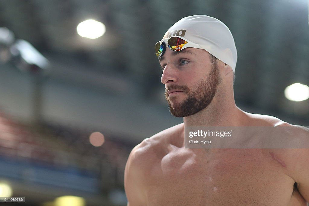 <a gi-track='captionPersonalityLinkClicked' href=/galleries/search?phrase=James+Magnussen&family=editorial&specificpeople=7229851 ng-click='$event.stopPropagation()'>James Magnussen</a> looks on after finishing second place in the 100 Metre Freestyle during the 2016 Australian Swimming Grand Prix at the Chandler Sports Centre on July 1, 2016 in Brisbane, Australia.