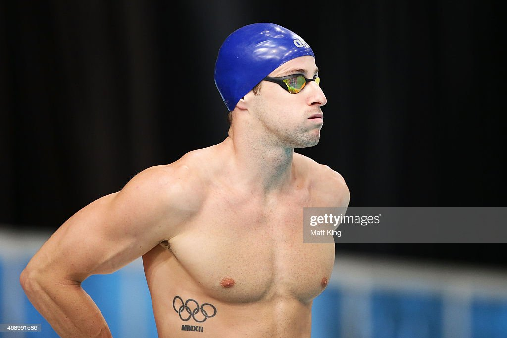 James Magnussen prepares for the Men's 50m Freestyle Final during day seven of the Australian National Swimming Championships at Sydney Olympic Park...