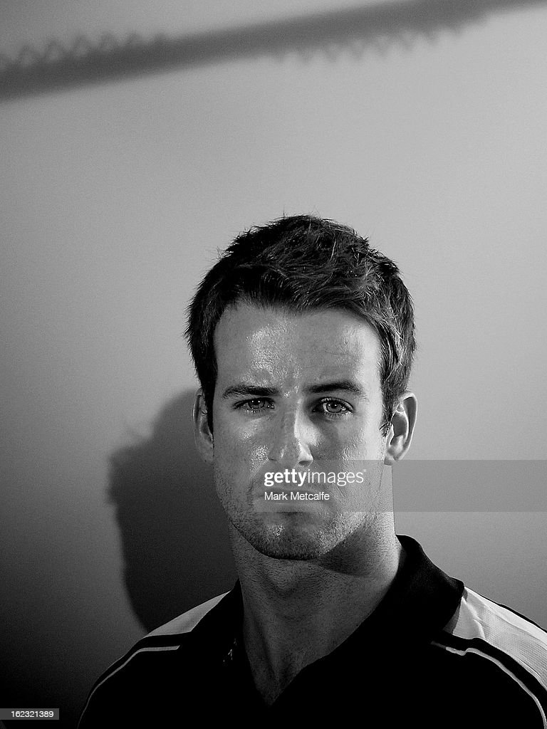 <a gi-track='captionPersonalityLinkClicked' href=/galleries/search?phrase=James+Magnussen&family=editorial&specificpeople=7229851 ng-click='$event.stopPropagation()'>James Magnussen</a> speaks to the media during a Swimming Australia press conference at the Novotel Rockford on February 22, 2013 in Sydney, Australia.