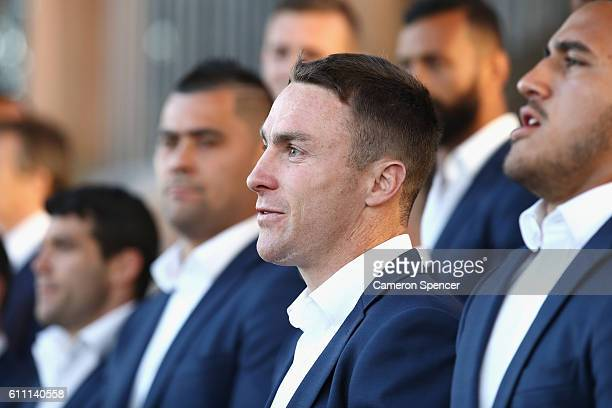 James Maloney of the CronullaSutherland Sharks looks on during the NRL Grand Final Fan Day at Sydney Opera House on September 29 2016 in Sydney...
