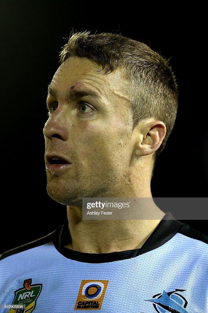 <a gi-track='captionPersonalityLinkClicked' href=/galleries/search?phrase=James+Maloney&family=editorial&specificpeople=2672556 ng-click='$event.stopPropagation()'>James Maloney</a> of the Sharks looks on during the round 16 NRL match between the Cronulla Sharks and the New Zealand Warriors at Southern Cross Group Stadium on June 25, 2016 in Sydney, Australia.
