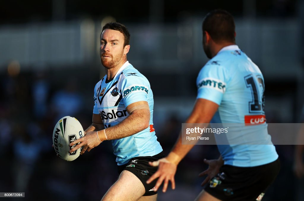 James Maloney of the Sharks warms up before the round 16 NRL match between the Cronulla Sharks and the Manly Sea Eagles at Southern Cross Group Stadium on June 25, 2017 in Sydney, Australia.