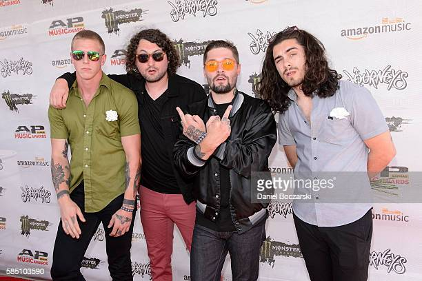 James Manson Ambrose Lupercal Brenton Dean and Seth Luloff of Holy White Hounds attend the Alternative Press Music Awards 2016 at Jerome...