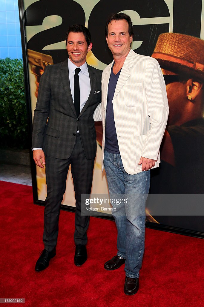 James Marsden and Bill Paxton attend '2 Guns' New York Premiere at SVA Theater on July 29, 2013 in New York City.