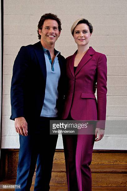 James Marsden and Evan Rachel Wood at the 'Westworld' Press Conference on July 28 2016 in West Hollywood California