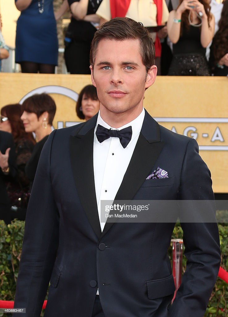 James Marsden arrives at the 20th Annual Screen Actors Guild Awards at the Shrine Auditorium on January 18, 2014 in Los Angeles, California.