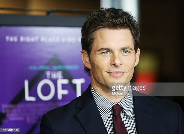 James Marsden arrives at the Los Angeles special screening of 'The Loft' held at Directors Guild of America on January 27 2015 in Los Angeles...