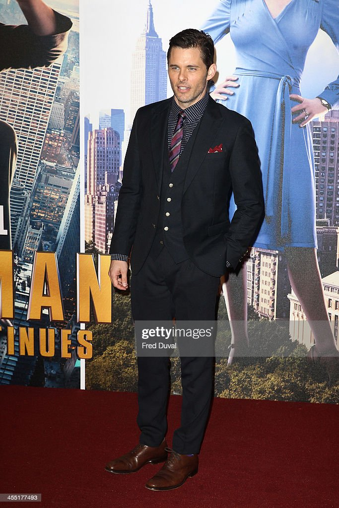 <a gi-track='captionPersonalityLinkClicked' href=/galleries/search?phrase=James+Marsden&family=editorial&specificpeople=206902 ng-click='$event.stopPropagation()'>James Marsden</a> attends the UK film premiere of 'Anchorman 2: The Legend Continues' at Vue West End on December 11, 2013 in London, England.
