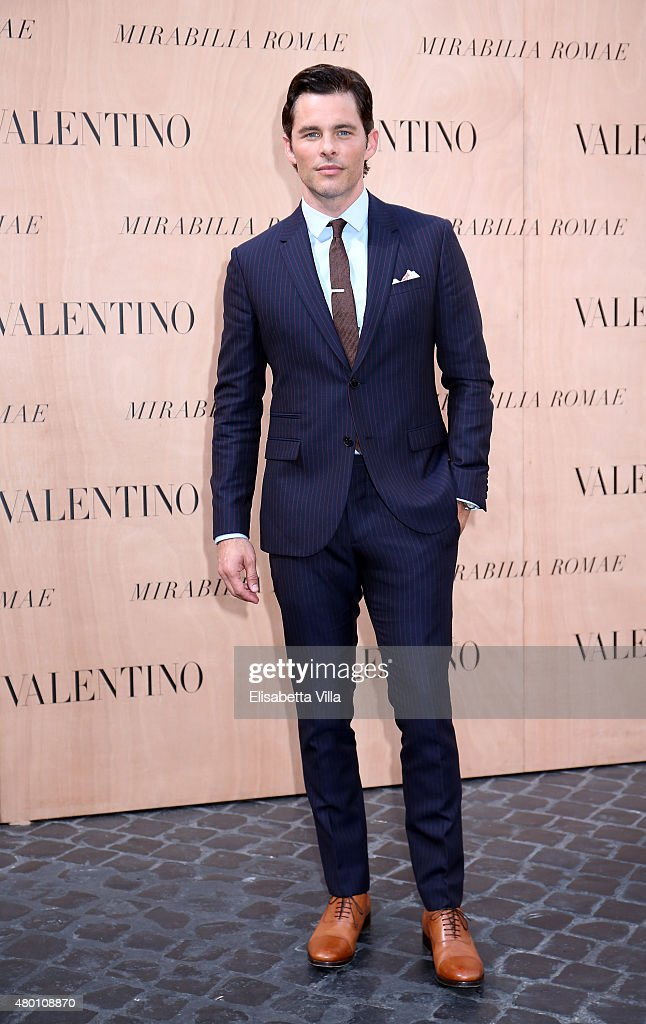 James Marsden attends the Valentinos 'Mirabilia Romae' haute couture collection fall/winter 2015 2016 at Piazza Mignanelli on July 9, 2015 in Rome, Italy.