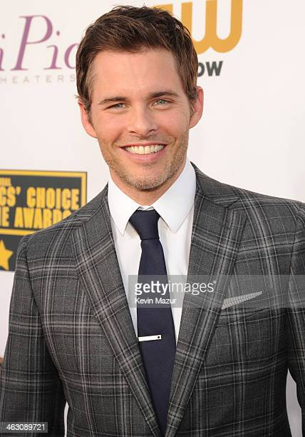 James Marsden attends the19th Annual Critics' Choice Movie Awards at Barker Hangar on January 16 2014 in Santa Monica California