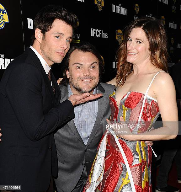 James Marsden Jack Black and Kathryn Hahn attend the premiere of 'The D Train' at ArcLight Hollywood on April 27 2015 in Hollywood California