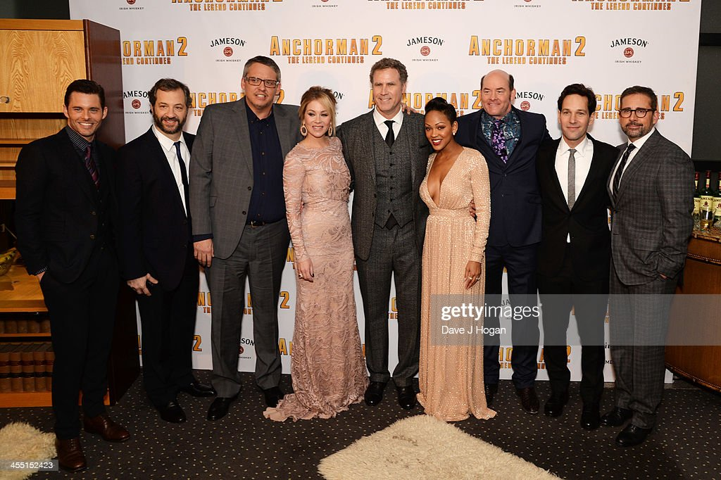 <a gi-track='captionPersonalityLinkClicked' href=/galleries/search?phrase=James+Marsden&family=editorial&specificpeople=206902 ng-click='$event.stopPropagation()'>James Marsden</a>, <a gi-track='captionPersonalityLinkClicked' href=/galleries/search?phrase=Meagan+Good&family=editorial&specificpeople=171680 ng-click='$event.stopPropagation()'>Meagan Good</a>, <a gi-track='captionPersonalityLinkClicked' href=/galleries/search?phrase=Adam+McKay&family=editorial&specificpeople=744172 ng-click='$event.stopPropagation()'>Adam McKay</a>, <a gi-track='captionPersonalityLinkClicked' href=/galleries/search?phrase=Will+Ferrell&family=editorial&specificpeople=171995 ng-click='$event.stopPropagation()'>Will Ferrell</a>, <a gi-track='captionPersonalityLinkClicked' href=/galleries/search?phrase=Paul+Rudd&family=editorial&specificpeople=209014 ng-click='$event.stopPropagation()'>Paul Rudd</a>, <a gi-track='captionPersonalityLinkClicked' href=/galleries/search?phrase=Steve+Carell&family=editorial&specificpeople=595491 ng-click='$event.stopPropagation()'>Steve Carell</a>, <a gi-track='captionPersonalityLinkClicked' href=/galleries/search?phrase=Christina+Applegate&family=editorial&specificpeople=171273 ng-click='$event.stopPropagation()'>Christina Applegate</a> and <a gi-track='captionPersonalityLinkClicked' href=/galleries/search?phrase=David+Koechner&family=editorial&specificpeople=804105 ng-click='$event.stopPropagation()'>David Koechner</a> attend the UK premiere of 'Anchorman 2: The Legend Continues' at The Vue West End on December 11, 2013 in London, England.