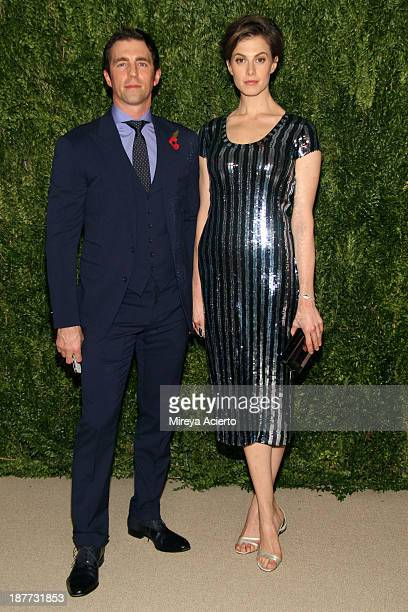 James Marshall and Elettra Rossellini Wiedemann attend CFDA and Vogue 2013 Fashion Fund Finalists Celebration at Spring Studios on November 11 2013...