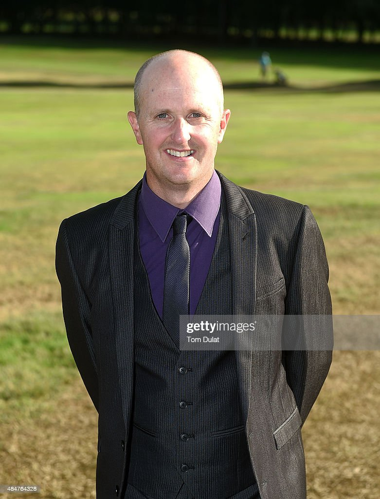 James Marshall of Addington Golf Club pose for photos after winning the the Golfplan Insurance PGA ProCaptain Challenge South Regional Qualifier at...