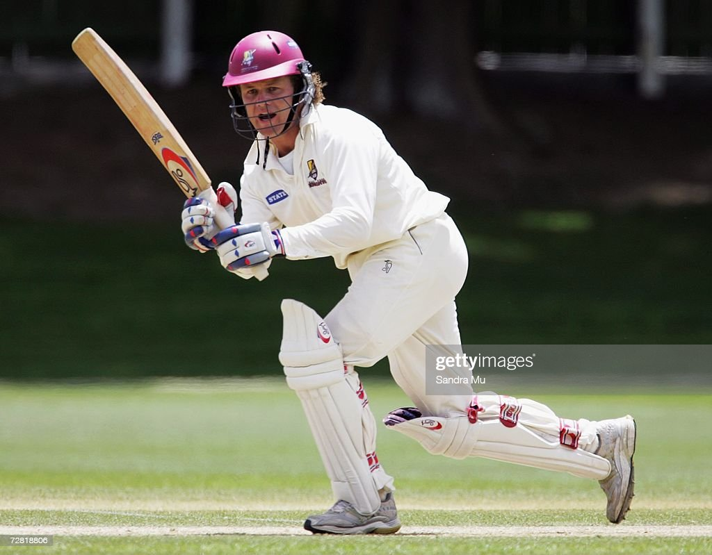 James Marshall of Northern Districts in action during the State Championship match between the Auckland Aces and Northern Districts at Eden Park...