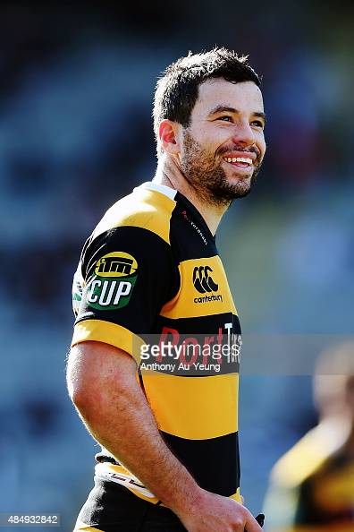 James Marshall of Taranaki looks on during the round two ITM Cup match between Auckland and Taranaki at Eden Park on August 23 2015 in Auckland New...