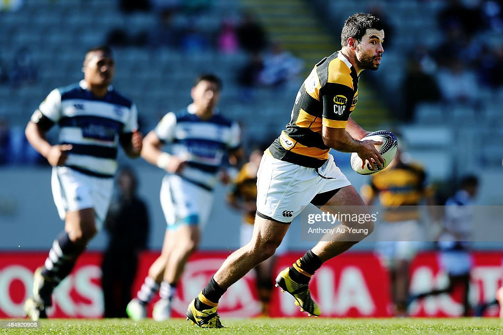 James Marshall of Taranaki makes a run during the round two ITM Cup match between Auckland and Taranaki at Eden Park on August 23 2015 in Auckland...