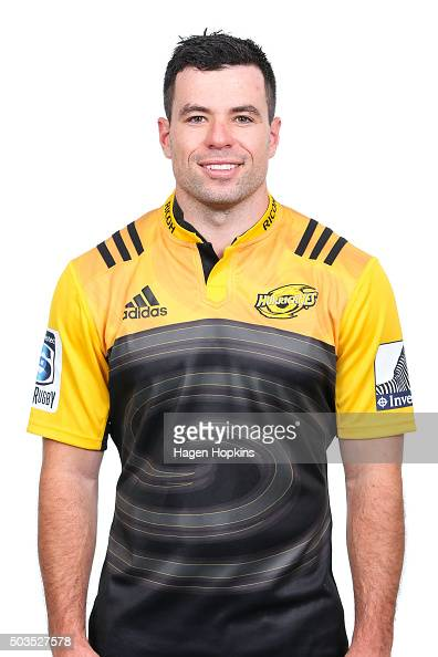 James Marshall poses during the Wellington Hurricanes 2016 Super Rugby headshots session on January 6 2016 in Wellington New Zealand