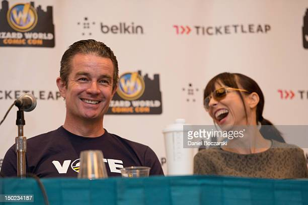 James Marsters and Juliet Landau attend Wizard World Chicago Comic Con 2012 at Donald E Stephens Convention Center on August 12 2012 in Rosemont...