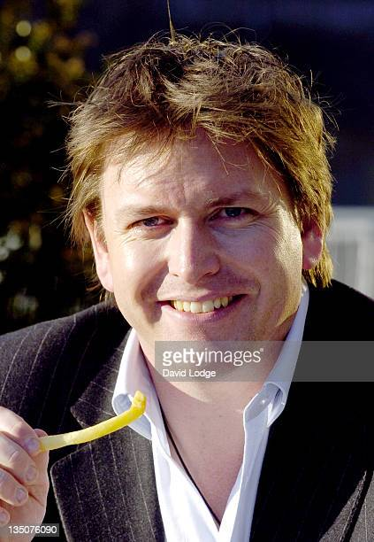 James Martin during Fish and Chips Shop of the Year 2005 Photocall at The Tower Thistle Hotel in London United Kingdom